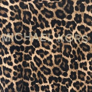 MICHAEL KORS MK Leopard Animal Print Top Gold Ltrs